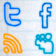 Social network icons - Hand animated drawn doodles - ActiveDen Item for Sale