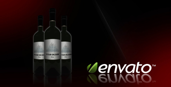 VideoHive Smooth Wine Bottle Commercial 2529314