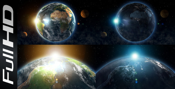 After Effects Project - VideoHive Earth Transition Day And Night 2550019