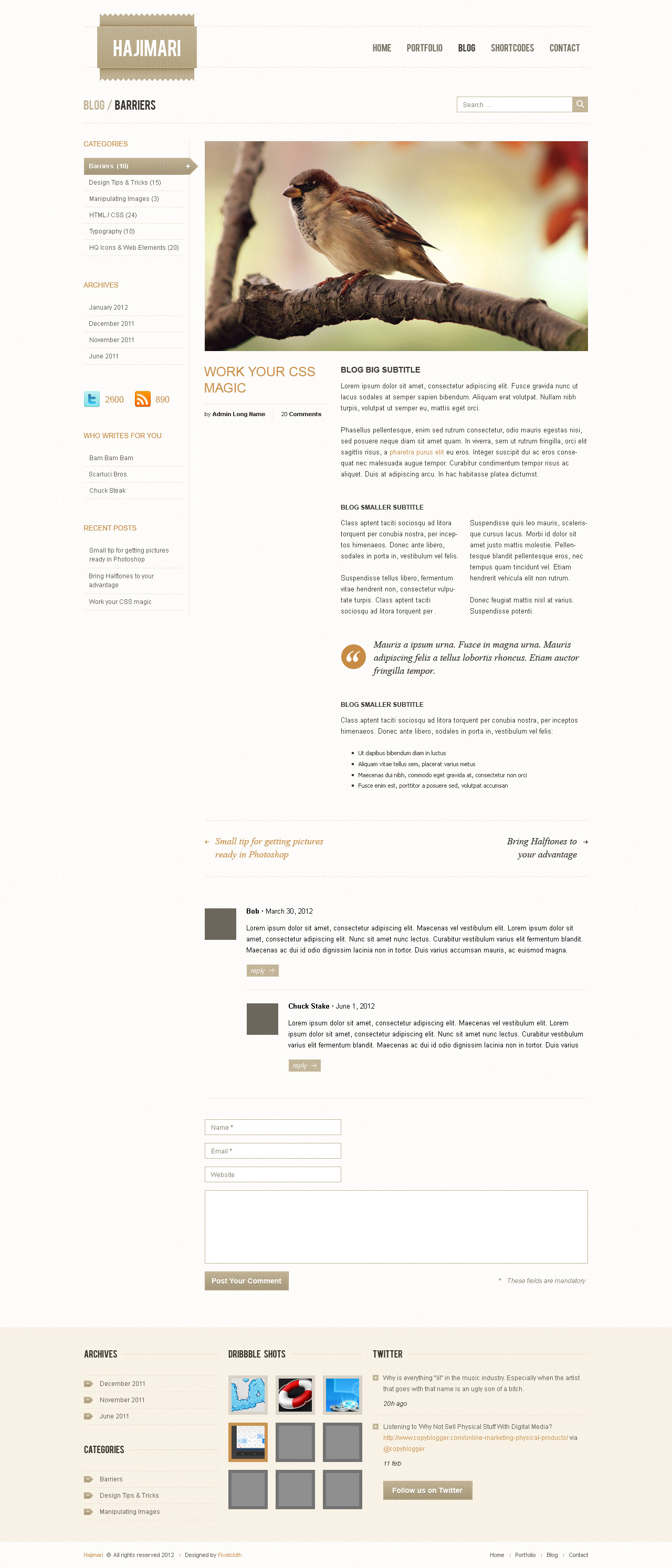 Hajimari HTML