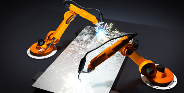 VideoHive Robot arms welding 2550804