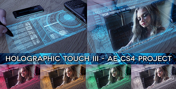 After Effects Project - VideoHive Holographic Touch III 2551122