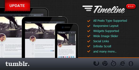 Timeline - Premium Tumblr Theme - TIMELINE - A Responsive Tumblr Theme
