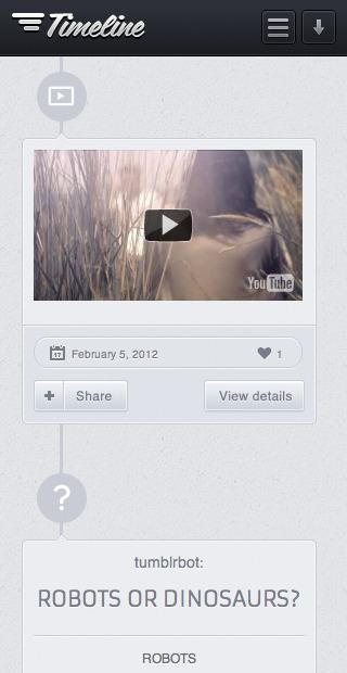 Timeline - Premium Tumblr Theme - Timeline Theme mobile view post