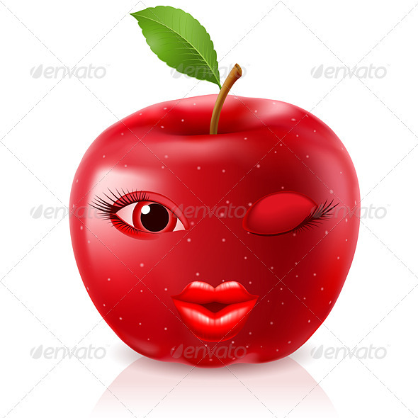 GraphicRiver Cartoon Red Apple 2551361
