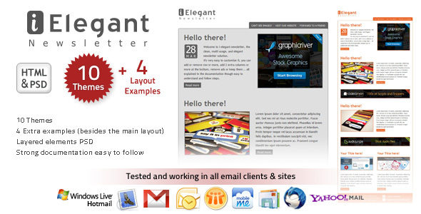 i-Elegant Newsletter - 10 Themes - Newsletters Email Templates
