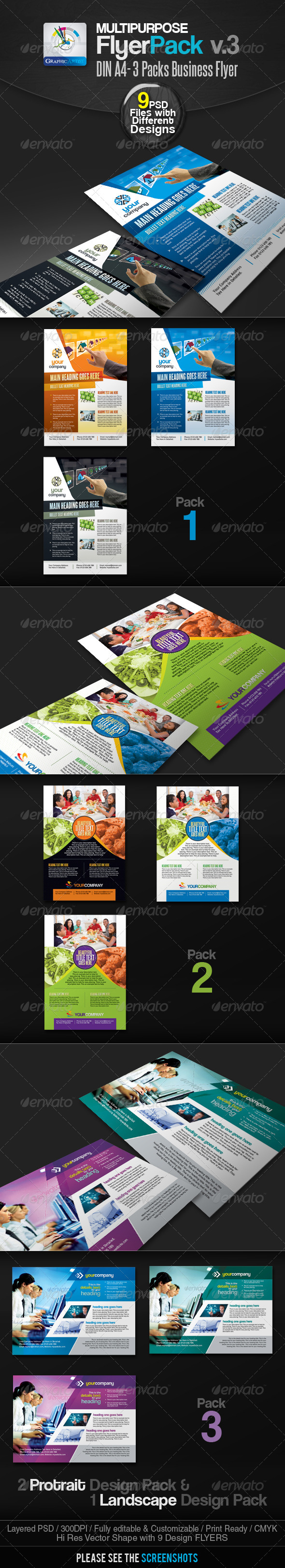 GraphicRiver Multipurpose Business Flyer Pack v.3 2551646