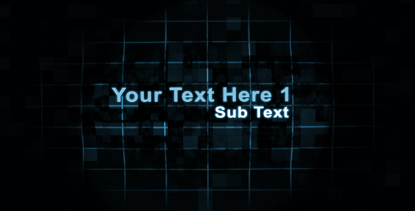 After Effects Project - VideoHive Digital Transforming Text Sequence 93005