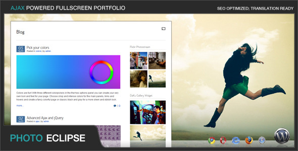 PhotoEclipse - Ajax Powered Portfolio WP Theme