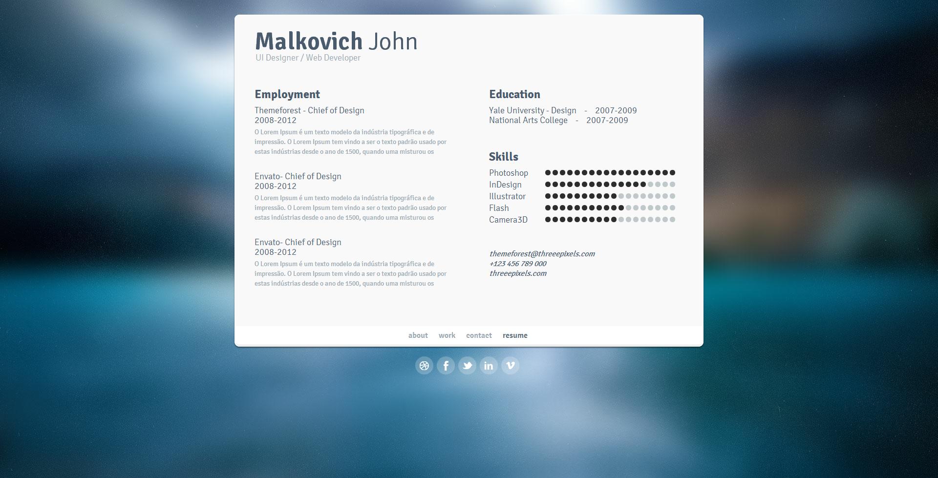 Click - Virtual Business Card Template