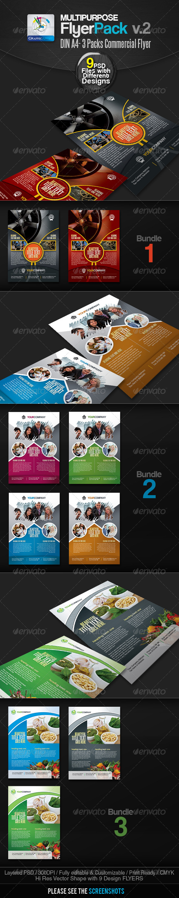 Multipurpose Commercial Flyer Bundle v.2 - Commerce Flyers
