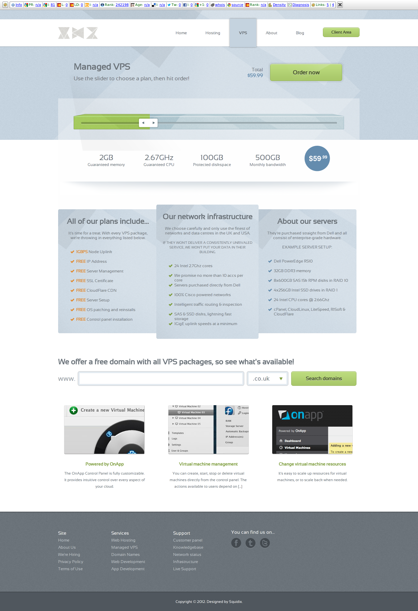 GlassHost - Premium Web Hosting Template