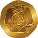 Vector British Money Gold Coin with Crowned Rose - GraphicRiver Item for Sale