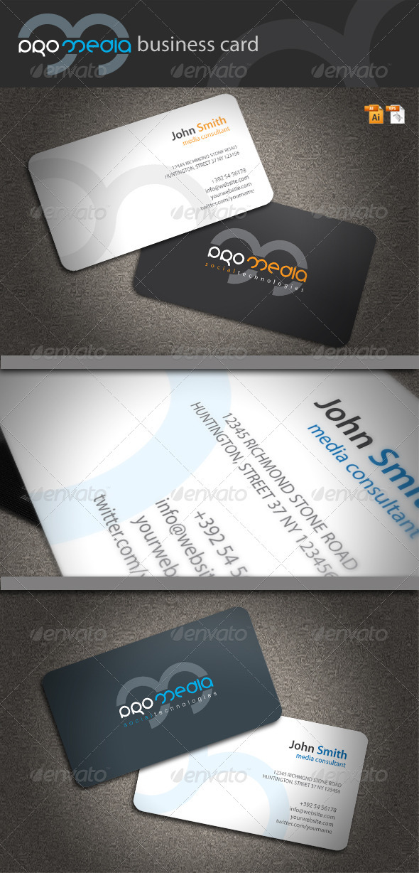 Pro Media Business Card - Corporate Business Cards