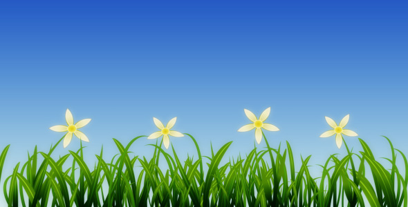 VideoHive Growing Grass and Flowers 93075