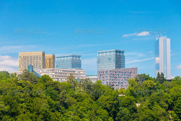 Luxembourg Kirchberg area - Stock Photo - Images
