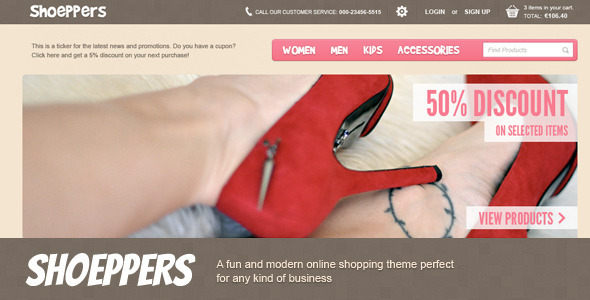 ThemeForest Shoeppers 2555735
