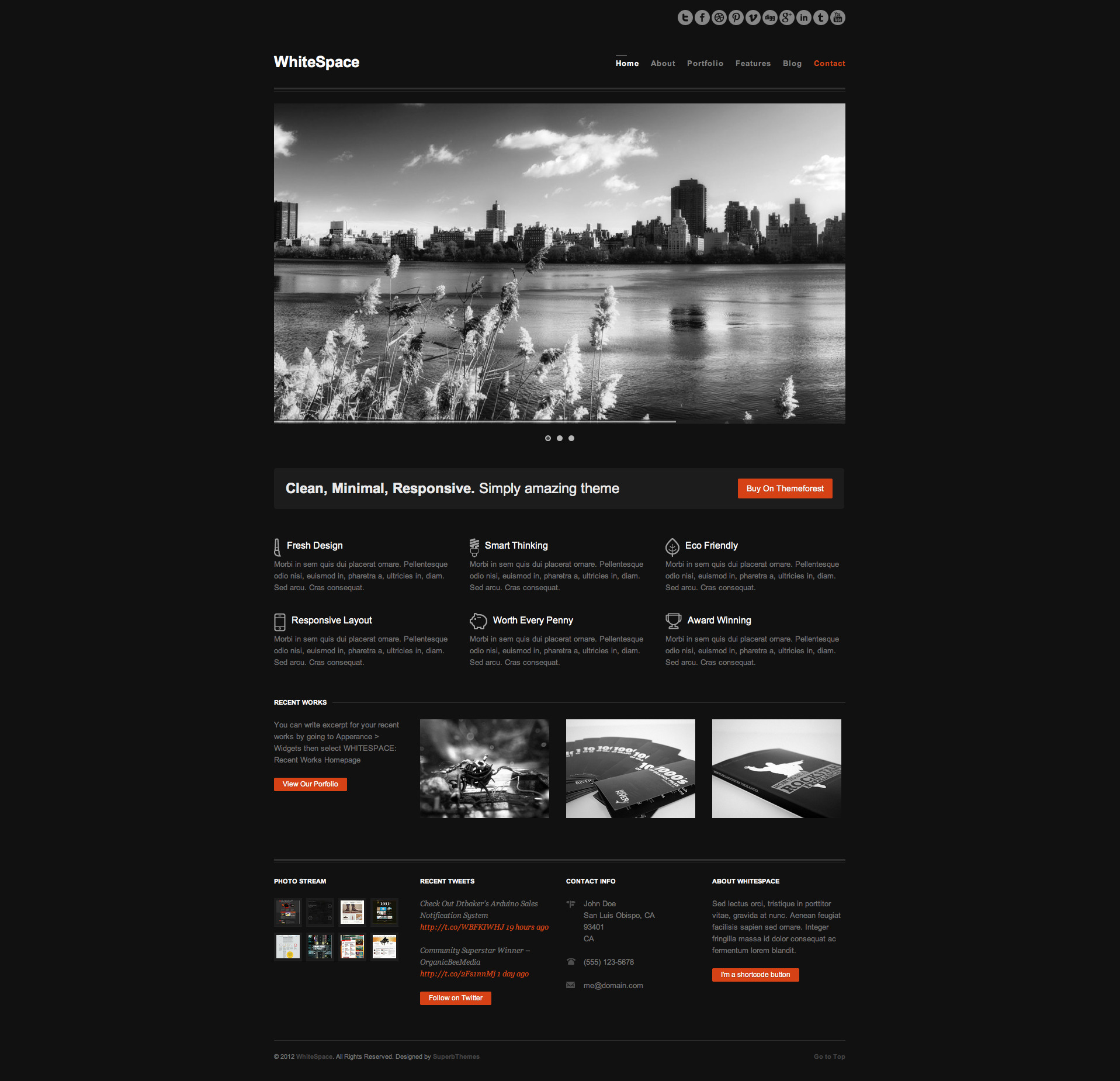 WhiteSpace: Responsive & Minimal Wordpress Theme -