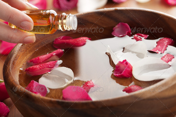 essential oil for aromatherapy - Stock Photo - Images