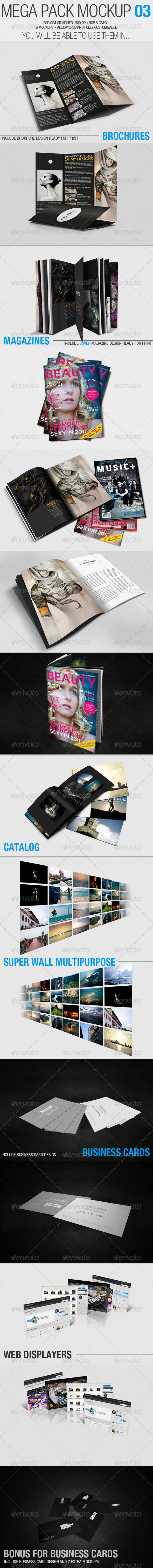 Mega Pack Mock-Up #3 - Brochures Print
