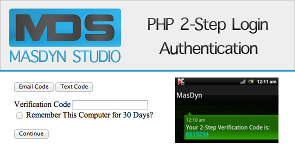 CodeCanyon PHP 2-Step Login Verification 2557021