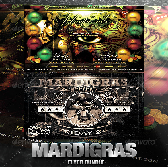 GraphicRiver Mardigras Flyer Bundle 2557227