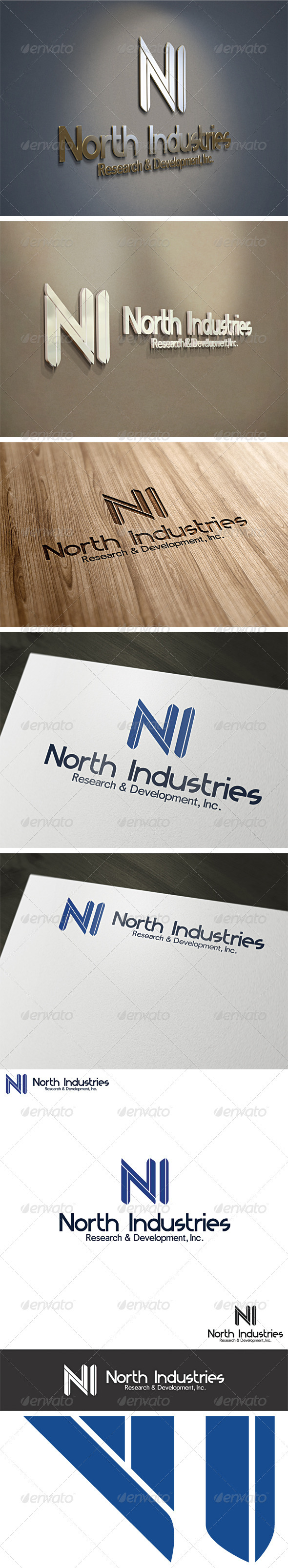 Letter N or I  Logo Template - Letters Logo Templates