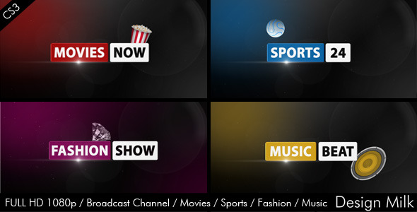 [VideoHive 2558299] Broadcast Channel Movies Sports Fashion Music | After Effects Project