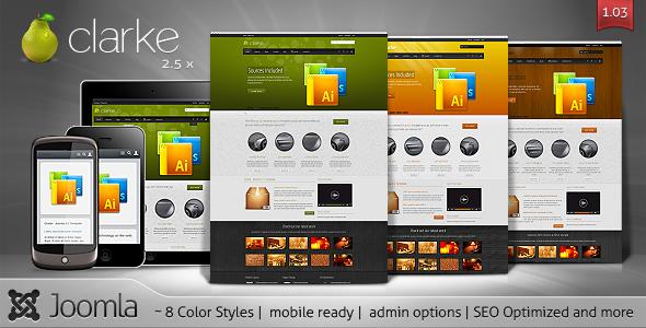 ThemeForest Clarke Premium Creative Joomla Template 2377485