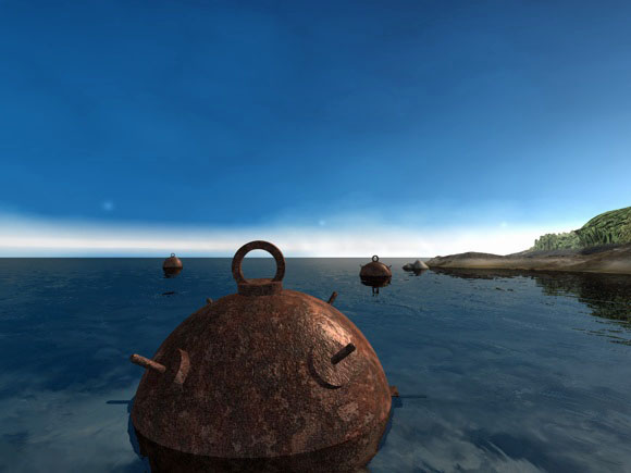 3DOcean Sea mine pendant 93184