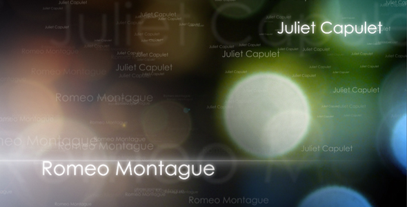 [VideoHive 93187] Romeo & Juliet | After Effects Project
