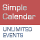 Simple Calendar with Unlimited Events - ActiveDen Item for Sale