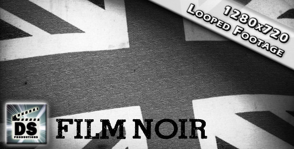 British Union Jack Flag Film Noir