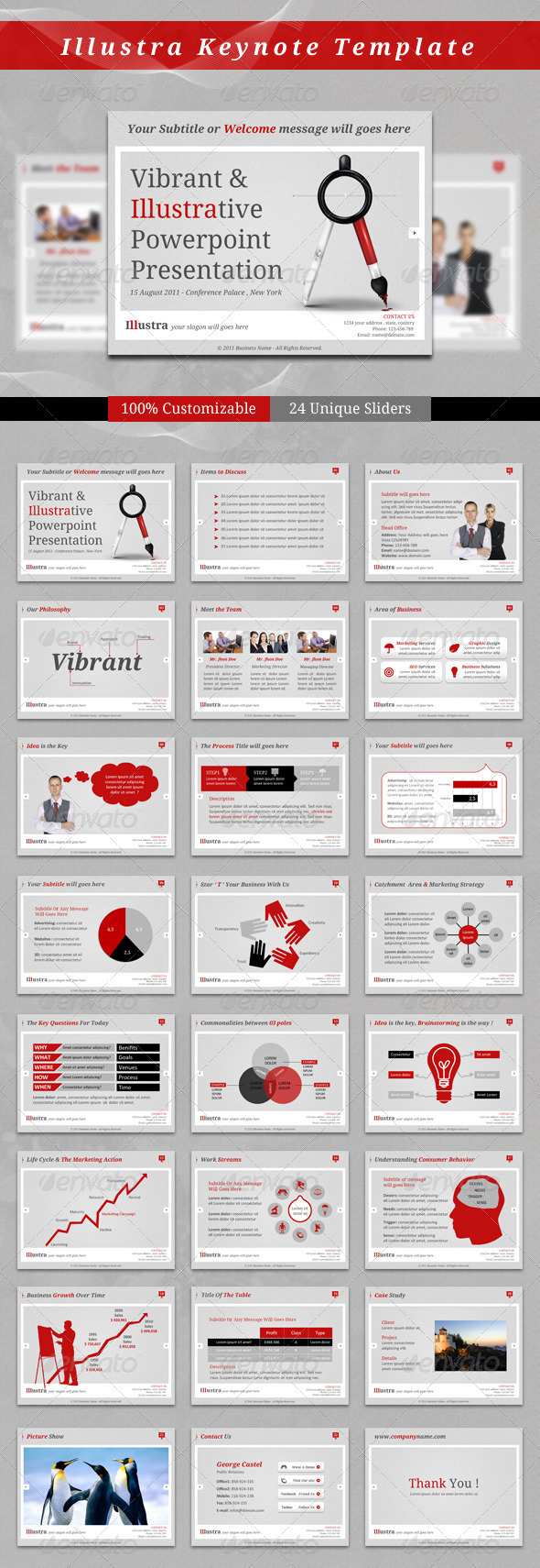 Illustra Keynote Template - Business Keynote Templates