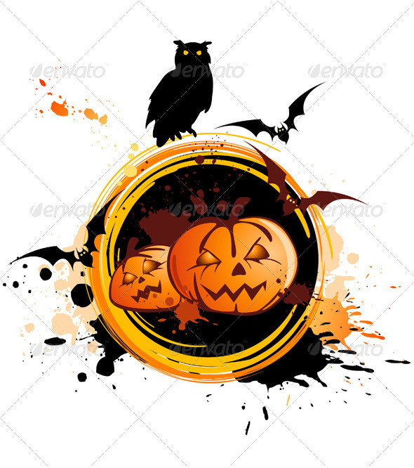 Halloween Background  with Owl - Halloween Seasons/Holidays