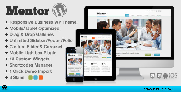 ThemeForest Mentor Premium Responsive HTML5 WordPress Theme 2560147