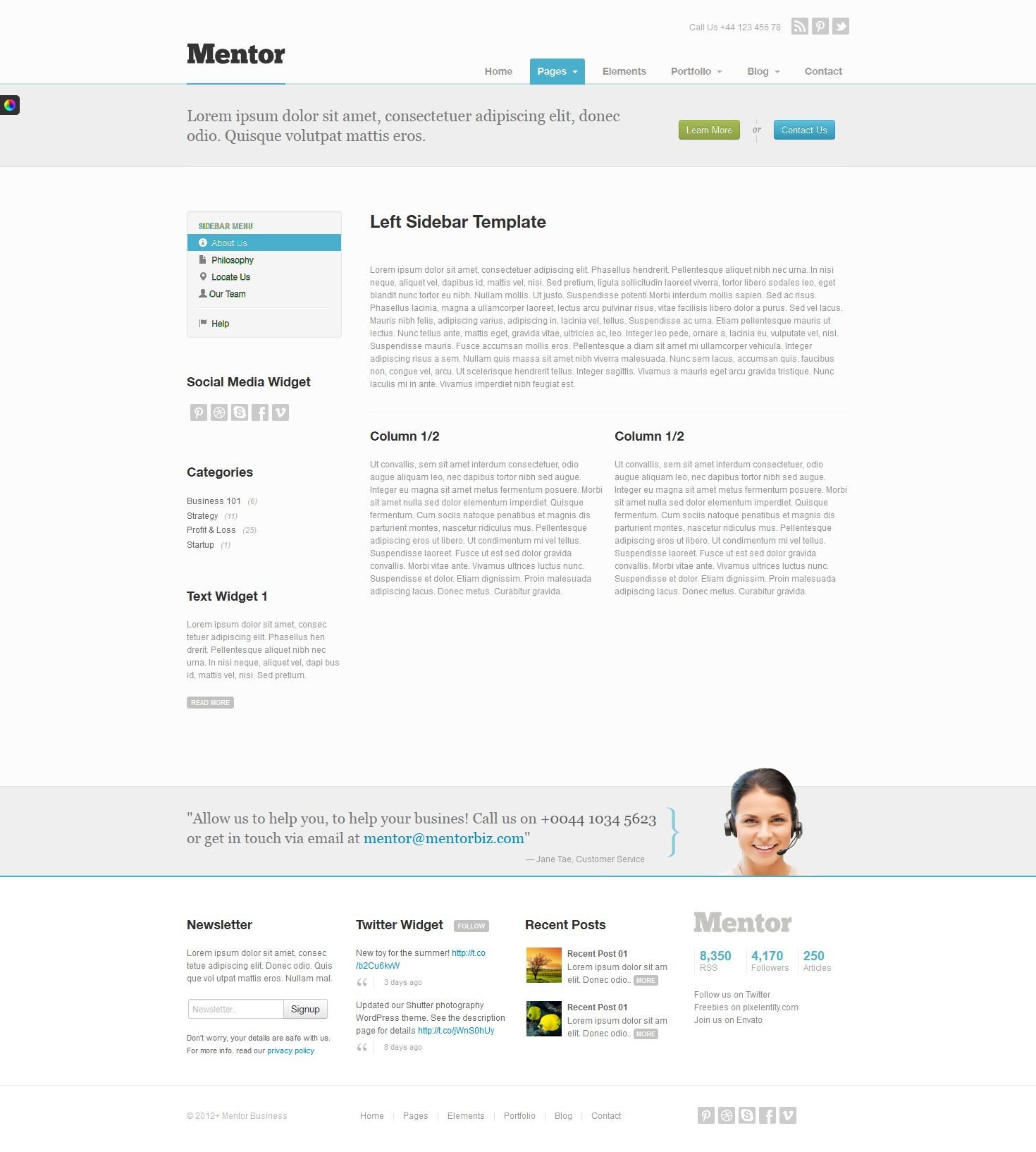Mentor - Premium Responsive HTML5 WordPress Theme