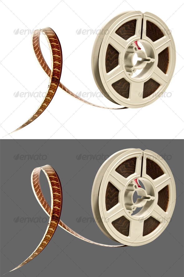 GraphicRiver Super 8 color film reel 93214