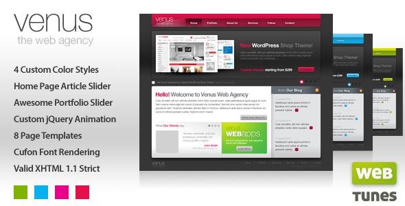 Venus 4 in 1 Online Portfolio, HTML/CSS Template