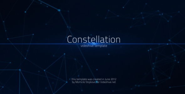 After Effects Project - VideoHive Constellation 2560757
