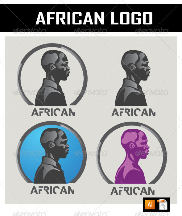 African Logo - Humans Logo Templates