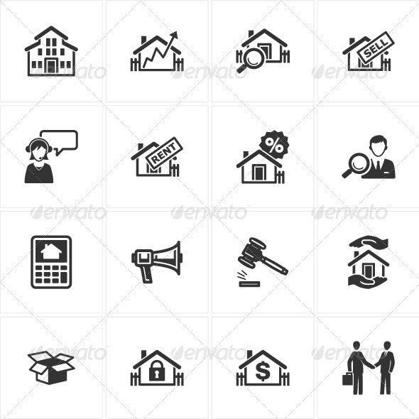 GraphicRiver Real Estate Icons 2560797