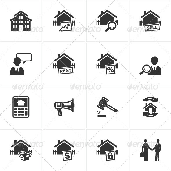 Real Estate Icons - Web Icons