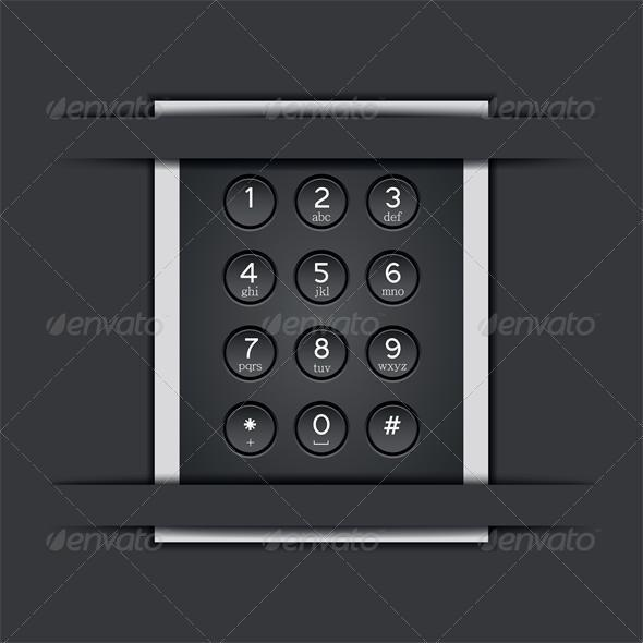 Vector phone keypad background