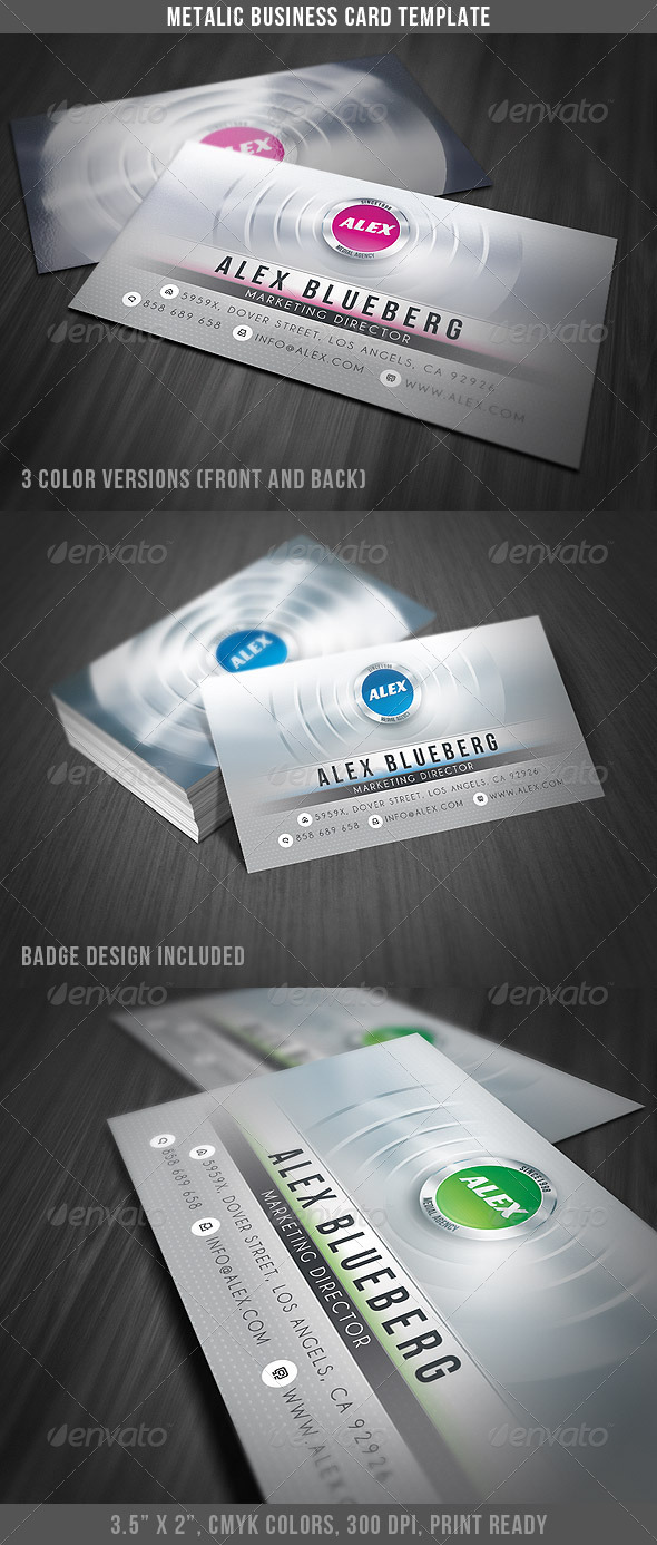 Metalic Business Card - Creative Business Cards