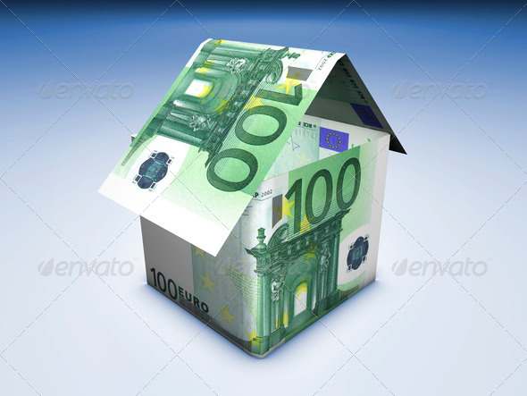House And Money - Stock Photo - Images