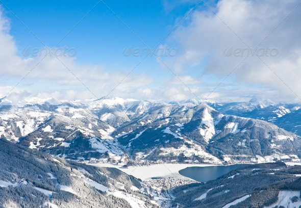 Ski resort Zell am See. Austria - Stock Photo - Images