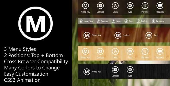 MetroNav - Metro Navigation Bar ver. CSS - CodeCanyon Item for Sale