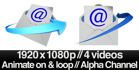 [VideoHive 2561579] Email Envelope Opening Loop 2 Styles With Alpha | Motion Graphics