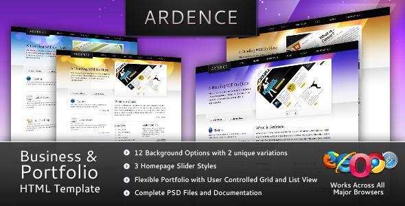 Ardence - Business & Portfolio Web Template - Preview Image